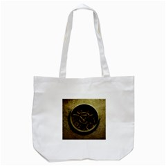 Abstract Steampunk Textures Golden Tote Bag (white) by Onesevenart