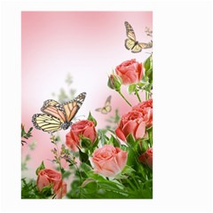 Flora Butterfly Roses Large Garden Flag (two Sides) by Onesevenart