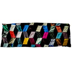 Abstract Multicolor Cubes 3d Quilt Fabric Body Pillow Case Dakimakura (two Sides) by Onesevenart