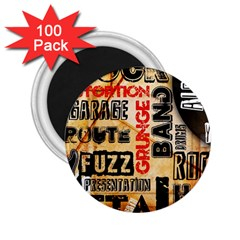 Guitar Typography 2 25  Magnets (100 Pack)  by Onesevenart