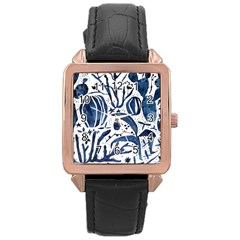 Art And Light Dorothy Rose Gold Leather Watch  by Onesevenart