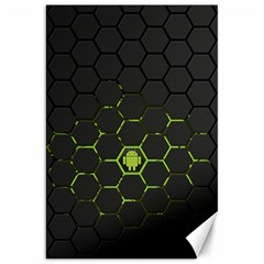Green Android Honeycomb Gree Canvas 20  X 30   by Onesevenart