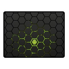 Green Android Honeycomb Gree Fleece Blanket (small) by Onesevenart