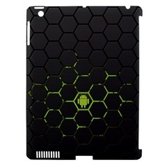 Green Android Honeycomb Gree Apple Ipad 3/4 Hardshell Case (compatible With Smart Cover) by Onesevenart