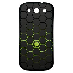 Green Android Honeycomb Gree Samsung Galaxy S3 S Iii Classic Hardshell Back Case by Onesevenart