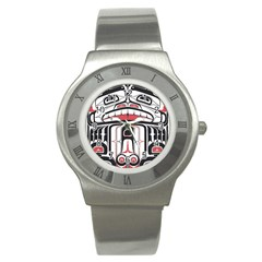 Ethnic Traditional Art Stainless Steel Watch by Onesevenart