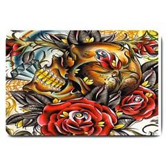 Flower Art Traditional Large Doormat  by Onesevenart