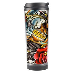 Flower Art Traditional Travel Tumbler by Onesevenart