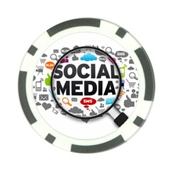 Social Media Computer Internet Typography Text Poster Poker Chip Card Guard by Onesevenart