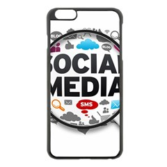 Social Media Computer Internet Typography Text Poster Apple Iphone 6 Plus/6s Plus Black Enamel Case by Onesevenart