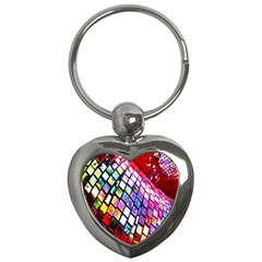Multicolor Wall Mosaic Key Chains (heart)  by Onesevenart