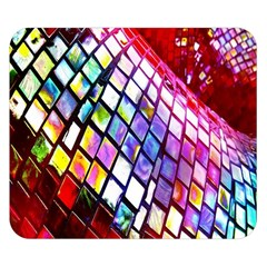 Multicolor Wall Mosaic Double Sided Flano Blanket (small)  by Onesevenart