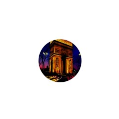 Paris Cityscapes Lights Multicolor France 1  Mini Buttons by Onesevenart