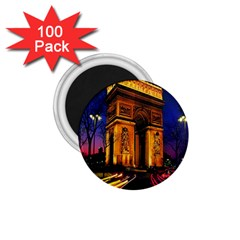 Paris Cityscapes Lights Multicolor France 1 75  Magnets (100 Pack)  by Onesevenart