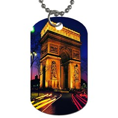 Paris Cityscapes Lights Multicolor France Dog Tag (two Sides) by Onesevenart