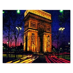 Paris Cityscapes Lights Multicolor France Rectangular Jigsaw Puzzl