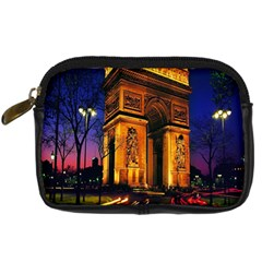 Paris Cityscapes Lights Multicolor France Digital Camera Cases by Onesevenart