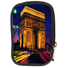 Paris Cityscapes Lights Multicolor France Compact Camera Cases by Onesevenart