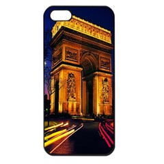 Paris Cityscapes Lights Multicolor France Apple Iphone 5 Seamless Case (black) by Onesevenart