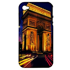 Paris Cityscapes Lights Multicolor France Apple Iphone 4/4s Hardshell Case (pc+silicone) by Onesevenart