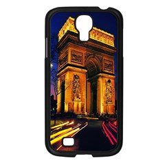 Paris Cityscapes Lights Multicolor France Samsung Galaxy S4 I9500/ I9505 Case (black) by Onesevenart
