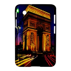 Paris Cityscapes Lights Multicolor France Samsung Galaxy Tab 2 (7 ) P3100 Hardshell Case  by Onesevenart