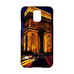 Paris Cityscapes Lights Multicolor France Samsung Galaxy S5 Hardshell Case  by Onesevenart