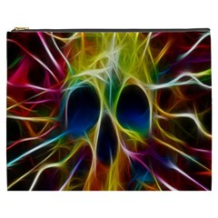 Skulls Multicolor Fractalius Colors Colorful Cosmetic Bag (xxxl)  by Onesevenart