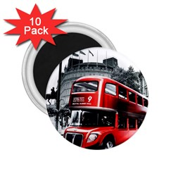 London Bus 2 25  Magnets (10 Pack)  by Onesevenart