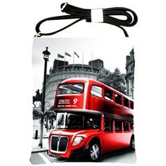 London Bus Shoulder Sling Bags by Onesevenart