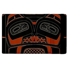 Traditional Northwest Coast Native Art Apple Ipad 3/4 Flip Case by Onesevenart