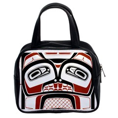 Traditional Northwest Coast Native Art Classic Handbags (2 Sides) by Onesevenart