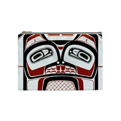 Traditional Northwest Coast Native Art Cosmetic Bag (medium)  by Onesevenart