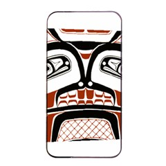 Traditional Northwest Coast Native Art Apple Iphone 4/4s Seamless Case (black) by Onesevenart
