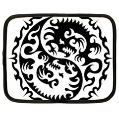 Ying Yang Tattoo Netbook Case (xl)  by Onesevenart