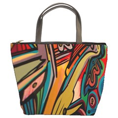Vivid Colours Bucket Bags by Onesevenart