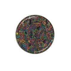 Trees Internet Multicolor Psychedelic Reddit Detailed Colors Hat Clip Ball Marker (4 Pack) by Onesevenart