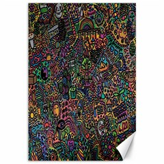 Trees Internet Multicolor Psychedelic Reddit Detailed Colors Canvas 12  X 18   by Onesevenart