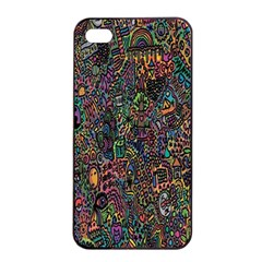 Trees Internet Multicolor Psychedelic Reddit Detailed Colors Apple Iphone 4/4s Seamless Case (black) by Onesevenart