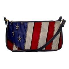 Usa Flag Shoulder Clutch Bags by Onesevenart
