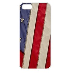 Usa Flag Apple Iphone 5 Seamless Case (white) by Onesevenart