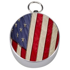 Usa Flag Silver Compasses by Onesevenart