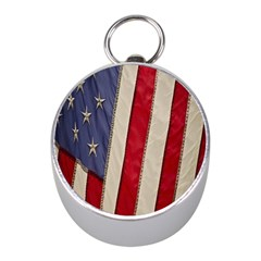 Usa Flag Mini Silver Compasses by Onesevenart