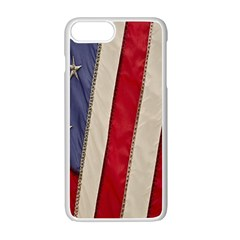 Usa Flag Apple iPhone 7 Plus White Seamless Case by Onesevenart