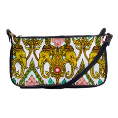 Traditional Thai Style Painting Shoulder Clutch Bags by Onesevenart