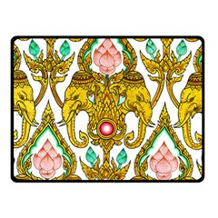 Traditional Thai Style Painting Double Sided Fleece Blanket (small)  by Onesevenart