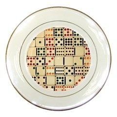 Old Domino Stones Porcelain Plates by Onesevenart