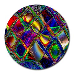 Abstract Digital Art Round Mousepads by Onesevenart