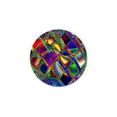 Abstract Digital Art Golf Ball Marker (10 Pack) by Onesevenart