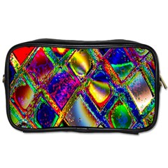 Abstract Digital Art Toiletries Bags 2 Side by Onesevenart
